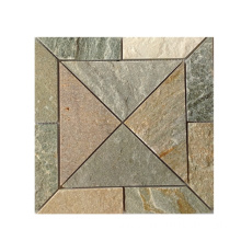 Beige Natural Slate Stone Mosaic Tiles for Wall